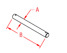 Roller Shaft   Pall Nuts Drawing
