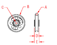 Rope Sheave   Bearings Drawing