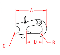 Rope Snap Shackle Drawing