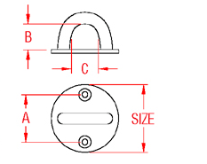Round Pad Eye Drawing