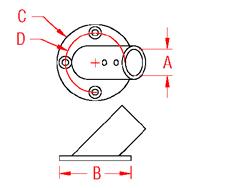 Round Rail Base   60 Degree Drawing
