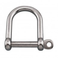 Wide D Shackle with Screw Pin - Grade 316 Stainless Steel S0114-0