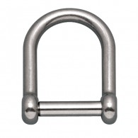 Wide D Shackle with No Snag Pin - Grade 316 Stainless Steel S0114-NS