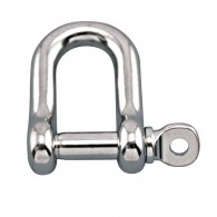 Straight D Shackle with Screw Pin - Grade 316 Stainless Steel S0115-0