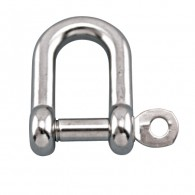 Straight D Shackle w/Captive Pin - Grade 316 Stainless Steel S0115-CP