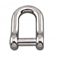 Straight D Shackle w/No Snag Pin - Grade 316 Stainless Steel S0115-NS