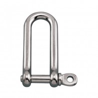 Long D Shackle with Screw Pin - Grade 316 Stainless Steel S0138-0