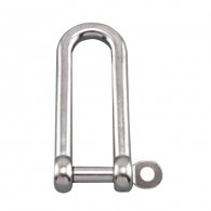 Long D Shackle w/Captive Pin - Grade 316 Stainless Steel S0138-CP
