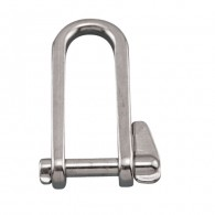 Long D Shackle w/Key Pin - Stainless Steel S0167-0