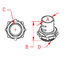 Screw In Connector Drawing