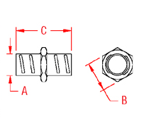 Screw In Coupling Drawing