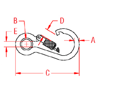 Screw Lock Spring Clip Drawing