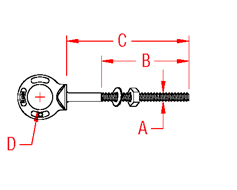 Shoulder Eye Bolt Drawing