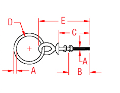 Shoulder Ring Bolt Drawing
