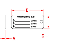 Sling Identification Tag Drawing
