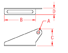 Split Roller Brackets Drawing
