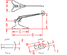 Stainless Steel Plow Anchor Drawing