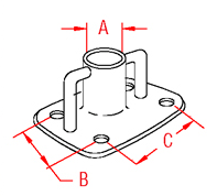 Stanchion Base Drawing