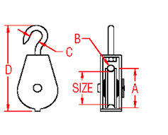Swivel Block w  Hook Drawing