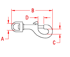Swivel Bolt Snap Drawing