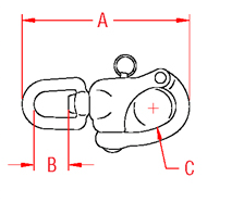 Swivel Snap Shackle Drawing