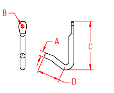 Tack Hook Drawing