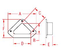 Triangular Hawse Pipe Drawing