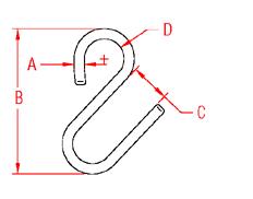 U  Hook Drawing