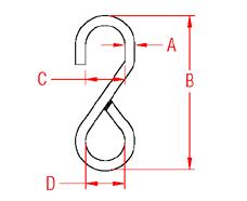 Welded  S  Web Hook Drawing