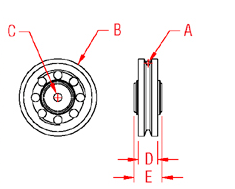 Wire Rope Sheave   Bushing Drawing