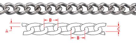 Twist Link Chain - S0611