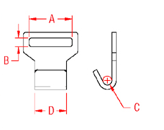 Flat Web Hook Drawing