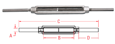 Forged Stub and Stub Turnbuckle