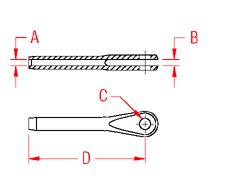 Mil. Spec Swage Fork Drawing