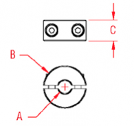 2 Part Wire Clamp Drawing