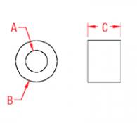 Aluminum Stop Sleeve Drawing