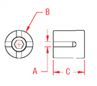 Cross Wire Clamp Standard Drawing
