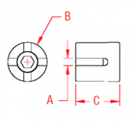 Cross Wire Clamp Surface Mount Drawing