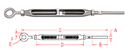 Gate Eye and Hand Swage Stud - Open Body (S0795-H)