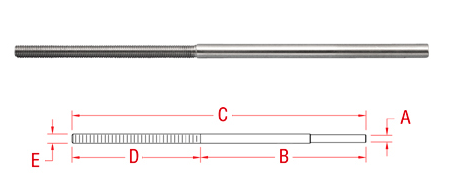 Hand Swage Extra Long Stud (S0731-HL)