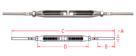 Hand Swage Stud and Stud - Open Body (S0797-H)
