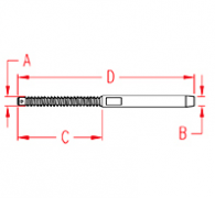 Left Hand Swage Stud Drawing