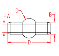 Mil. Spec Double Shank Ball Drawing
