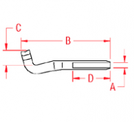 Swage  T  Terminal Drawing