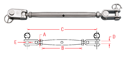 Toggle and Toggle Turnbuckle (S0783)