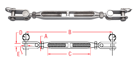 Toggle & Toggle Turnbuckle (Bronze & Stainless) S0785