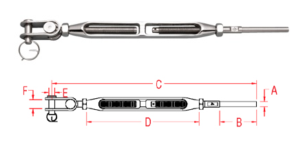 Toggle and Hand Swage Stud - Open Body (S0786-H)