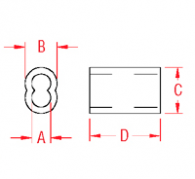 Zinc Plated Copper Swage Sleeve Drawing