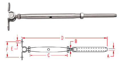 wall mount and swage stud - closed body (S0784)