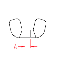 Wing Nut Line Drawing